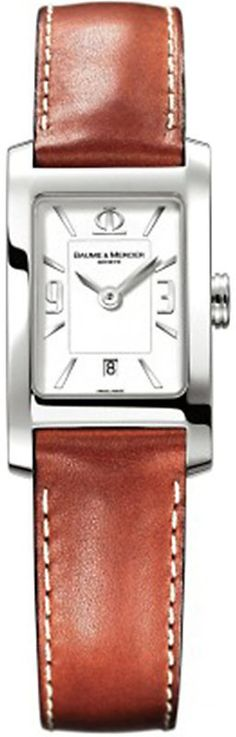 Baume & Mercier M0A10186 Hampton stainless steel and leather watch