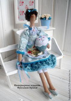 Куклы Тильды ручной работы. Ярмарка Мастеров - ручная работа Кухарочка в бирюзовой гамме, интерьерная игрушка в стиле Tilda. Handmade.