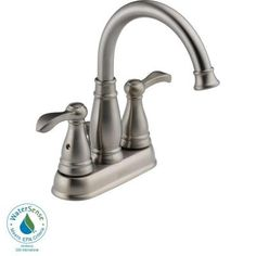 Delta Porter 4 in. Centerset 2-Handle High-Arc Bathroom Faucet in Brushed Nickel - 25984LF-BN - The Home Depot