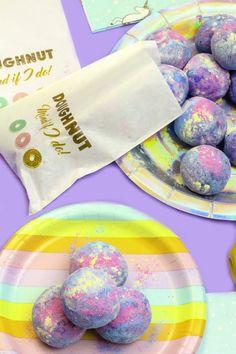 DIY Rainbow Unicorn Donut Holes!