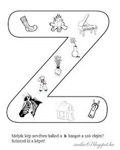 Játékos tanulás és kreativitás: Kisbetűkben képek a hangfelismerés gyakorlásához Dysgraphia, Worksheets, Letters, Teaching, School, Facebook, Alphabet, Letter, Fonts