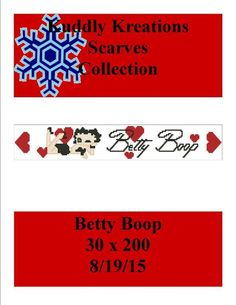 Looking for your next project? You're going to love Betty Boop Scarf 30 x 200 by designer Shell Cox.