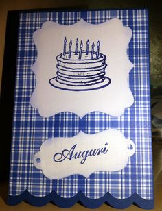The blu series - birthday cards for men: no ribbons or laces :-)