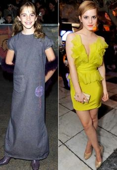 Hermione. Before & After. Wowza.
