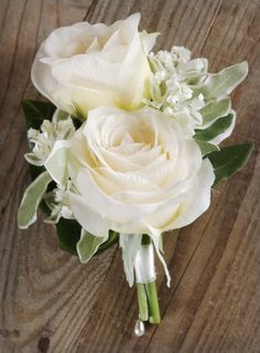 Wedding Corsage Rose & Stephanotis Artificial Flowers $8