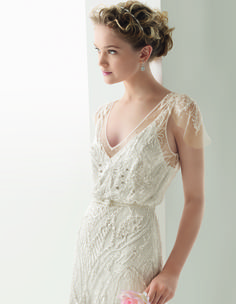 """Rosa Clara Soft Collection 2014 Gatsby inspired gown """"Ubeda"""" at Designer Loft! Available at Designer Loft."""
