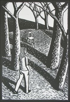 Unfold 2010. Linocut by Shana James.