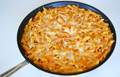 SPCookieQueen: Baked Mostaccioli in a skillet - For Monet