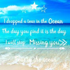 #ocean #tear #missing