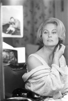 Michèle Morgan photographed at home (c. 1963)
