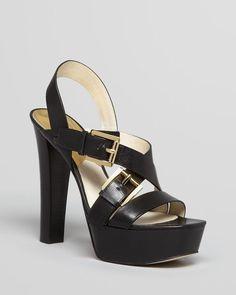 MICHAEL Michael Kors Platform Sandals - Josephine High Heel