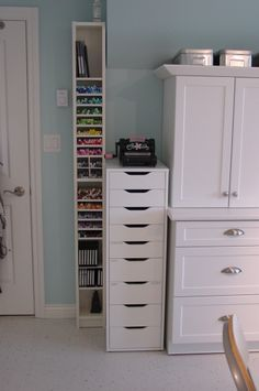 Really like ➡️ Storage Unit on right with 3 Drawers & Cabinet + the 9 Drawer Tower Storage (2.13.14)