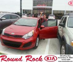 #HappyAnniversary to Scarlett Tindell on your 2013 #Kia #Rio from Rudy Armendariz at Round Rock Kia!