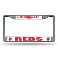 Cincinnati Reds MLB Chrome License Plate Frame