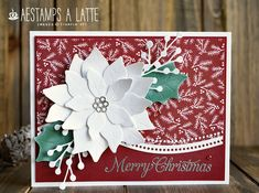 AESTAMPS A LATTE: Whisper White Poinsettia Christmas Poinsettia, Stampin Up Christmas, Christmas Cards, Elegant Christmas, Large Flowers, Creative Cards, Flower Petals, Thank You Gifts, Christmas And New Year