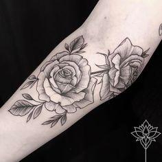Flower tattoo vintage