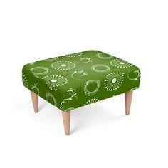 White Dandelion, Dark Green Background, Outdoor Furniture, Outdoor Decor, Vanity Bench, Ottoman, Colours, Chair, Design