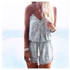 2017 SPRING & SUMMER FASHION TRENDS! Ask your Stitch Fix stylist to send you items like this.#StitchFix #sponsored Boho tank top shorts romper