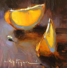 Orange Slices by Elena Katsyura Oil ~ 6 in x 6 in Orange Painting, Fruit Painting, Food Art Painting, Still Life Oil Painting, Guache, Photo Wall Art, Still Life Art, Art Oil, Painting Inspiration
