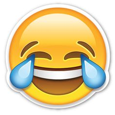 Face with Tears of Joy   EmojiStickers.com...my fav... Some things just make you laugh until you want to cry..too funny:-)