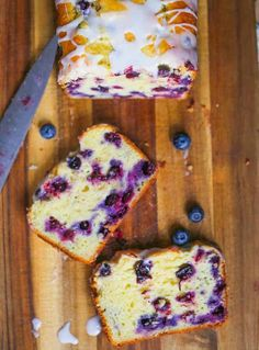 Lemon Blueberry Explosion Loaf – Cookie, Brownie & Chocolate Obsessed The Baking ChocolaTess – Cookie, Brownie & Chocolate Recipes Blueberry Recipes, Lemon Recipes, Banana Bread Recipes, Sweet Recipes, Loaf Recipes, Dessert Bread, Dessert Recipes, Fruit Dessert, Fruit Cakes