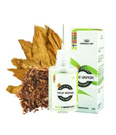 E-LIQUID - BRIGHT TOBACCO € 3.80  True Vapor's Bright Tobacco e-liquid is of the highest quality and are derived from natural extracts from tobacco leaves.  This means you will experience the taste of genuine tobacco vapour with this e-liquid. With no chemical aftertaste that some other e-liquids provides. So if you want to try a mild and fresh tobacco flavour, this is it.