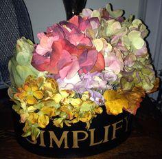 Beautiful Fall Hydrangea and Artichoke Arrangement