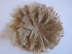 Burlap Fabric Flower  DIY to be Altered  hair by cathiefilian, $4.00