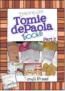 Teaching with Tomie dePaola Books Part 2:  Blog series with loads of ideas for teaching with Tomie books! | Around the Kampfire