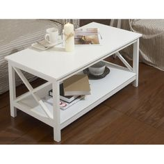 Andover Mills Coffee Table with Magazine Rack
