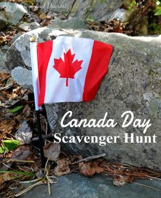 Canada Day Scavenger Hunt Ideas (would work for July 4th too) for kids of all ages.