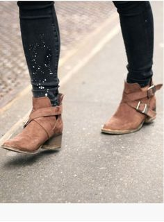 Buckled boots.