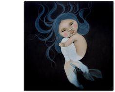blue - little mermaid - painting - Poh Ling Yeow Mermaid Tale, Cute Mermaid, Little Mermaid Painting, Polynesian Art, Johann Wolfgang Von Goethe, Mermaid Pictures, Pop Surrealism, Australian Artists, Chinese Art