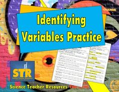 FREE Download!  Identifying Variables Practice - Help your students with independent, dependent, and control variables!