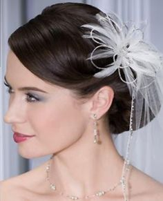 Complete your wedding look with this floral headpiece!