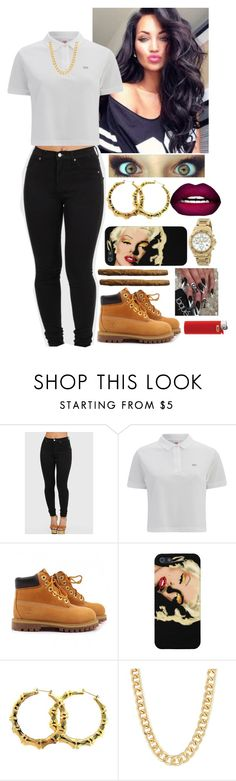 """""""8/05/15"""" by ashli-nr ❤ liked on Polyvore featuring Lacoste L!VE, Timberland and Citizen"""