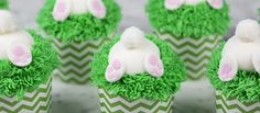 These cupcakes might just be the perfect treat for Easter. The grass is super-easy to pipe and the little butts are easier than you might think! If you want to have both ends of the bunny, or just use less fondant you can make these bunny ear cupcakes too! Bunny Butt Cupcakes The perfect Easter treat! For the Cake:1 2/3 cups all-purpose flour1 cup sugar1/4 tsp baking soda1 tsp baking powder3/4 cup salted butter room temperature3 eggs3 tsps vanilla extract1/2 cup sour cream...