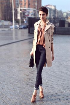 Shop this look on Kaleidoscope (trenchcoat, shirt, jeans, sandals, necklace)  http://kalei.do/WIZn5Vex7aF3iB5u