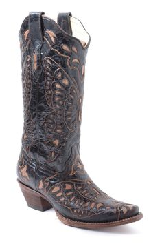 butterfly cowgirl boots | Corral Women's Tan Butterfly Cowgirl Boots