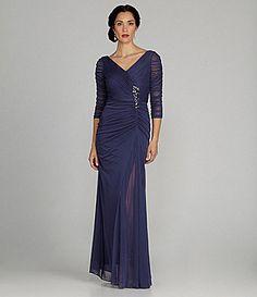 Adrianna Papell Woman Beaded Waist Gown #Dillards
