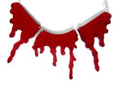 Horror Gore zombie VAMPIRE slasher chain Blood by HausofTrashglam, $19.99