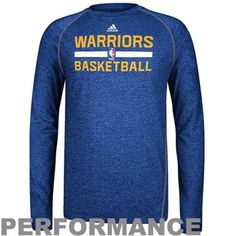 adidas Golden State Warriors Practice Performance Long Sleeve T-Shirt -  Royal Blue 2993412c4