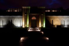 East façade of Dulwich Picture Gallery by night. Dulwich Picture Gallery, Public Art, Facade, Art Gallery, Old Things, England, Paintings, Traditional, Mansions