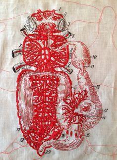 Hand embroidery | Karin van der Linden.