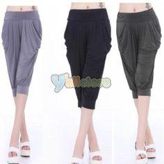 infant harem pants | Hot Women's Candy Colors Capris Harem Pants Hip Hop Stretch Cropped ...