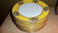 Antique Dinner Plate Set 12 Royal by StyleJunkieAntiques on Etsy, $2400.00