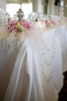 gorgeous-love the crystal garlands