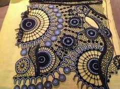 Ирина Кудрявцева. Irish crochet. Freeform. Motifs. Dress. Ирландское кружево…
