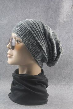 56aa8e5514f Winter Women Men Hat Oversize Slouchy Baggy Unisex Knit Ski Cap Skull NEW   fashion  clothing  shoes  accessories  mensaccessories  hats (ebay link)