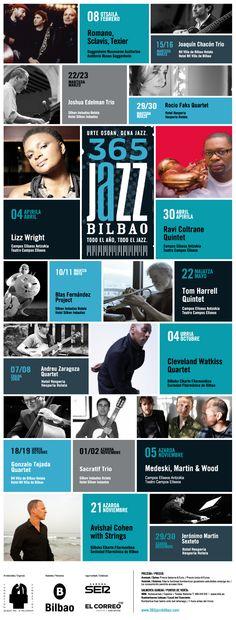 365 Jazz Bilbao - Urte Osoan, dena Jazz - Todo el Año, Todo el Jazz